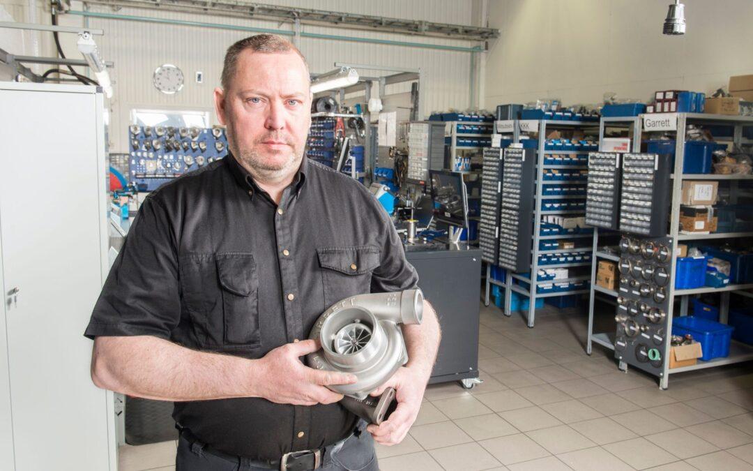 Kullagrat till Turbocontainern